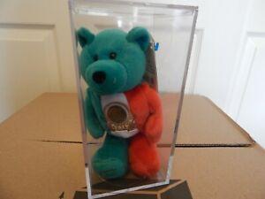 EURO BEAR ITALY ITALIA 2002 WITH COIN LIMITED TREASURES PLUSH MWMT ACRYLIC BOX