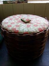 Vintage wicker sewing basket 1970