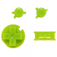 Custom A B Buttons Kits Dpad Keypad Replacement for Gameboy Color GBC Green