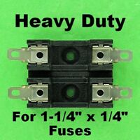 Bussmann Double Fuse Holder Block For 3AG Fuses 12 Volt 30A 120V AC Dual Fuse