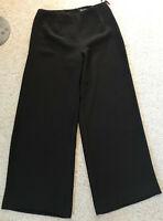 DIBARI elegante leichte Damen Hose Gr 36 dunkel braun edel & chic