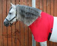 Red Lycra horse bib, Anti rub vest horse vest All sizes