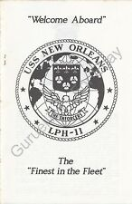 USS New Orleans (LPH 11) - US Navy Welcome Aboard Program - Circa 1986