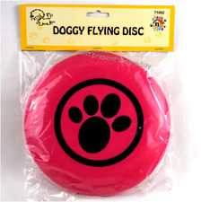Pet Dog Doggy Flying Disc Toy Pink large small dogs