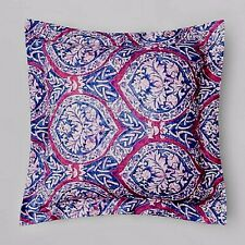 Sferra Rowyn navy & Berry Continental Euro Egyptian Cotton Pillow Sham