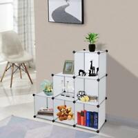 Home Cube Storage Organizer 6-Cube Shelves Unit Modular Closet Cabinet White