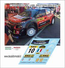 DECALS 1/18 CITROEN C3 WRC LOEB RALLY CATALUNYA 2018 ESPANA AGGIUNTIVO