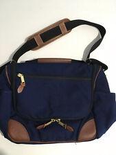 LL Bean Briefcase Messenger Bag Leather Trim 12 X 9 X 6 Interior Compartment
