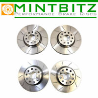 BMW 3 Series E92 330d 335d 335i 06-13 Grooved Front & Rear Brake Discs