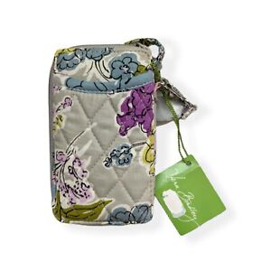 New Vera Bradley All-in-One Wristlet in Gray Watercolor Floral NWT