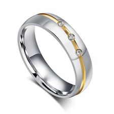 Partner-Ring Edelstahl Trauring Ehering Verlobungsring Bandring Damen Herren