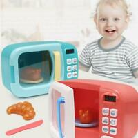 Mini Electric Microwave Oven Toy Dollhouse Pretend Toys Set Kids Birthday Gifts