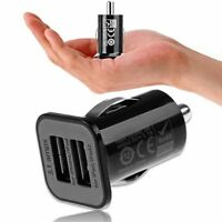 3A Mini Dual 2 Port USB Car Charger Adapter Cigarette Lighter for Phone BE