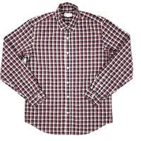 Gap Standard Fit Button Down Shirt Men's Medium Red Plaid Long Sleeve Cotton