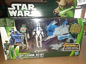 Star Wars TCW Clone Wars 501st Legion AT-RT NEW IN BOX w/ARF Trooper & TK-21