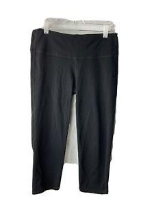 athleta black leggings medium Chaturanga Capri Cropped Womens Yoga Active