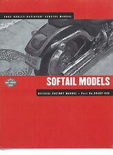 Harley-Davidson 2002 Softail Models Service  Manual  P/N 99482-02