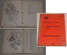 ERSATZTEIL-LISTE MÄHDRESCHER 630 S Massey-Ferguson GmbH 1962