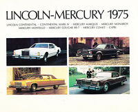1975 Lincoln Mercury 32-page Car Dealer Sales Brochure - Continental Marquis