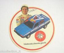 ADESIVO anni '80 /Sticker GILLES VILLENEUVE AUTO POLIZIA REEL GIOCATTOLO (cm 11)