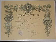 WW1 PNF REGIO ESERCITO DIPLOMA MEDAGLIA TIRO PISTOLA TROINA 1926  att1