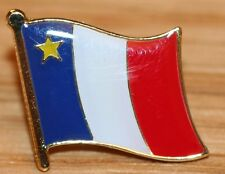 ACADIA Acadian Canada Canadian Country Flag Metal Lapel Pin Badge