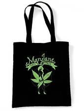 MARY JANE CANNABIS SHOULDER BAG - Marijuana Bong Spliff Weed Ganja Shopping