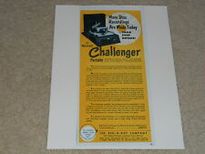 Rek-O-Kut Challenger Record Recorder Ad, Very Rare Ad! 1954, Cutter