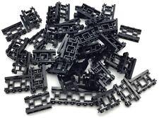 Lego 50 New Black Fences 1 x 4 x 2 Ornamental Asian Lattice with 4 Studs Pieces