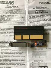 Craftsman  53779, HBW0709 Garage Door opener Remote control bonus new battery