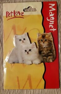 Pet Love Cat Lover Magnet Ensemble of Persian Cats Whte & Tan By Hallmark