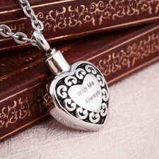 With Me Always Heart Cremation Jewelry Pendant Urn Keepsake Necklace for Ashes