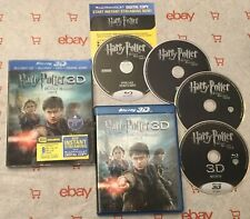 Harry Potter and the Deathly Hallows: Part II (3D + Blu-ray + DVD)+ Slip Cover!