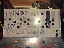 Mortal Kombat 3 Arcade Lexan Polycarbonate Control Panel Protector MK3 NOS CPO