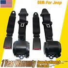 2Pcs 3 Point Safety Seat Belt Straps Heavy Duty Car Truck Adjustable Retractable