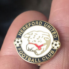 HEREFORD UNITED ROUND CREST ENAMEL PIN BADGE