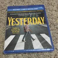 Yesterday (Blu-Ray+DVD+Digital, 2019) Danny Boyle, The Beatles, Brand New
