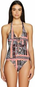 NWT $170  SEAFOLLY  US 10   LACE UP  SILK MARKET  MAILLOT  ONE PIECE