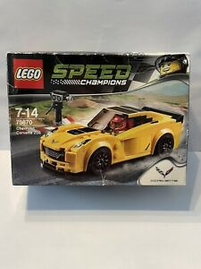 LEGO Sealed 75870 Chevrolet Corvette Z06 Chevy Yellow NEW in Box Speed Champions