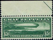#C-13 TOP MARGIN 1930 65 CENT GRAF ZEPPELIN AIRMAIL ISSUE  MINT-OG/NH--XF