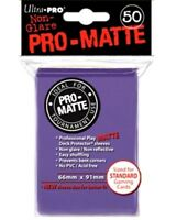 Ultra Pro Deck Protector Sleeves Matte Non Glare PURPLE Pokemon MTG 50 in Pack