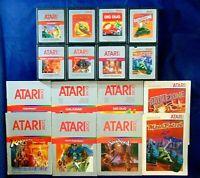 Atari 2600 Game Cartridge Lot Of 16 All Silver Labels With Manuals Dig Dug More