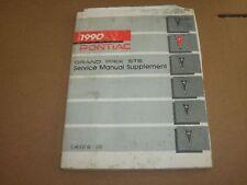 1990 Pontiac Grand Prix STE Dealer Service Manual Supplement OEM