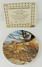 "Great Cats Of America 2nd. Issue In Series ""The Cougar"" 1989 Plate By Lee Cable"