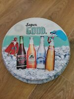 Vintage MEXICAN Metal Beer Tray  Serving Tray Man Cave Bar Room Item 1950' EDITI