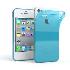 Ultra Slim Cover für Apple iPhone 4 / 4S TPU Case Silikon Hülle Hellblau