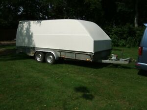 ENCLOSED COVERED TRAILER RACE CAR RECOVERY TRANSPORTER TRAILER NO VAT