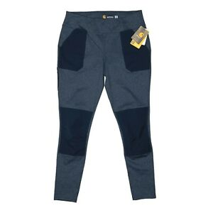 Carhartt Women's Force Fitted Utility Legging Large 12/14 Tall Blue Work Pant