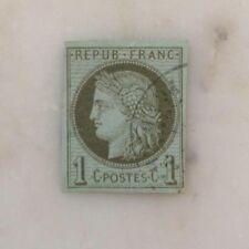 France n°39 1870 cérès 1c Olive oblitéré