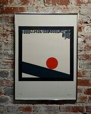 Eugenio Carmi- Red Ball- Original 1966 Color Screenprint -Pencil Signed